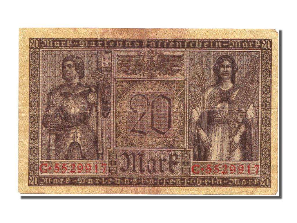 billets allemagne banknotes germany allemagne 20 mark type 1917 18 ebay. Black Bedroom Furniture Sets. Home Design Ideas