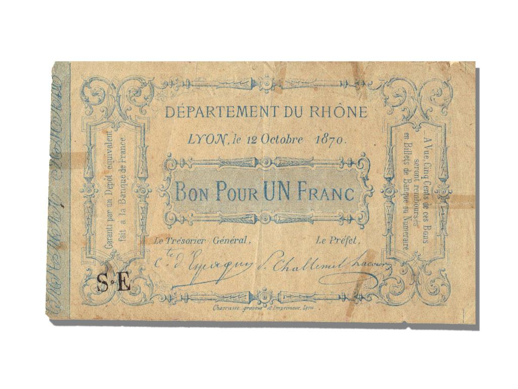 10784 bon pour 1 franc lyon ttb 1 franc de 151 500 for Bon pour 1 franc chambre de commerce