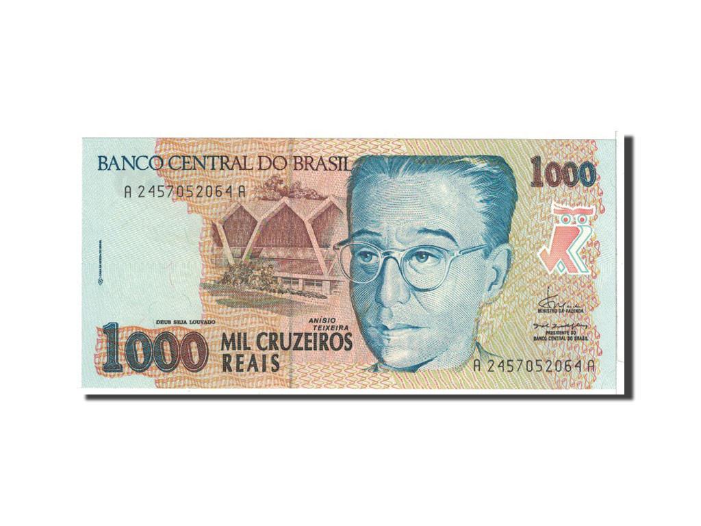 #118155 Brésil, 1000 Cruzeiros Reais, 1993, KM:240, NEUF : NEUF, 1000 Cruzeiros Reais, De 5 à 15 ...