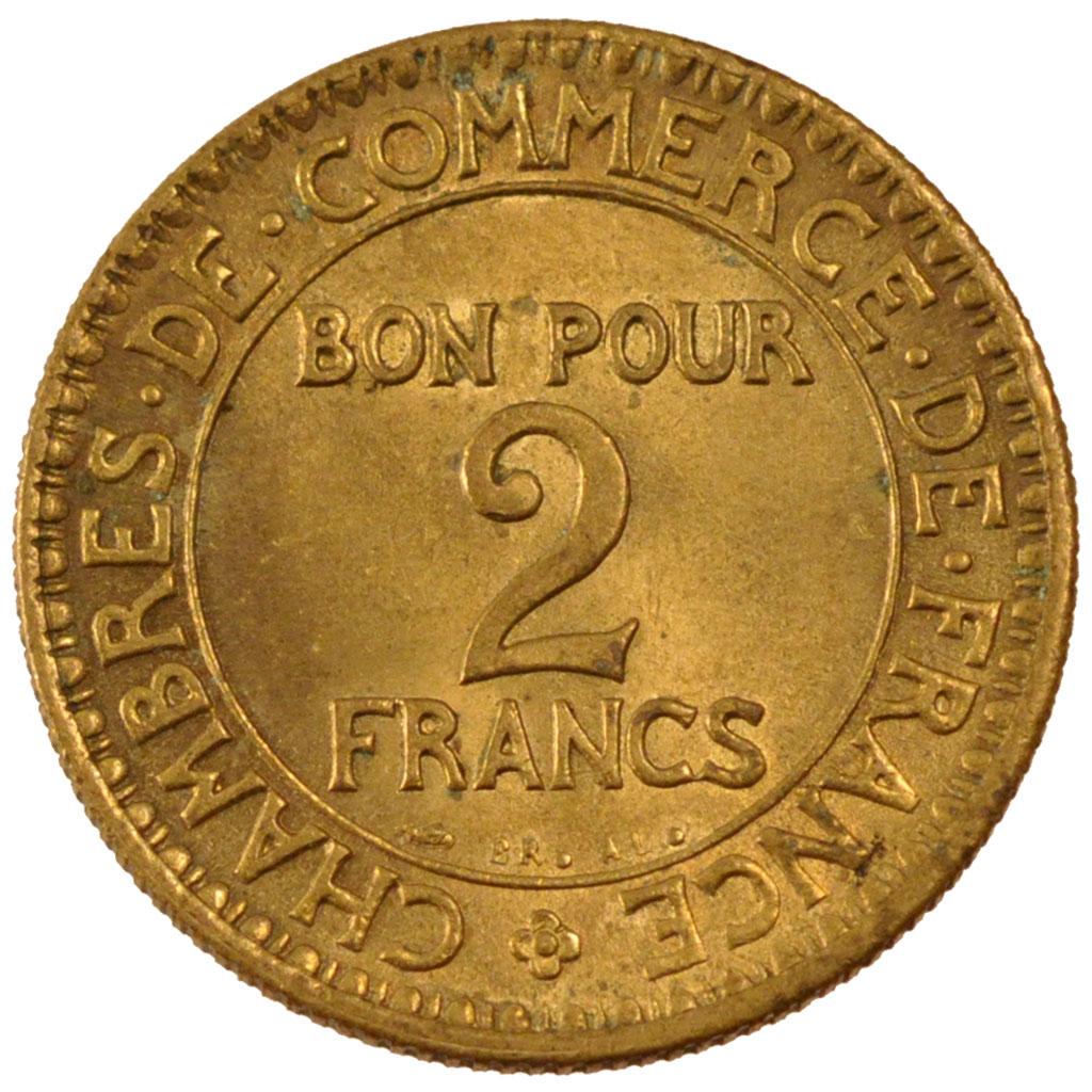 Monnaies modernes iii me r publique 2 francs chambre de for Chambre de commerce des bois francs