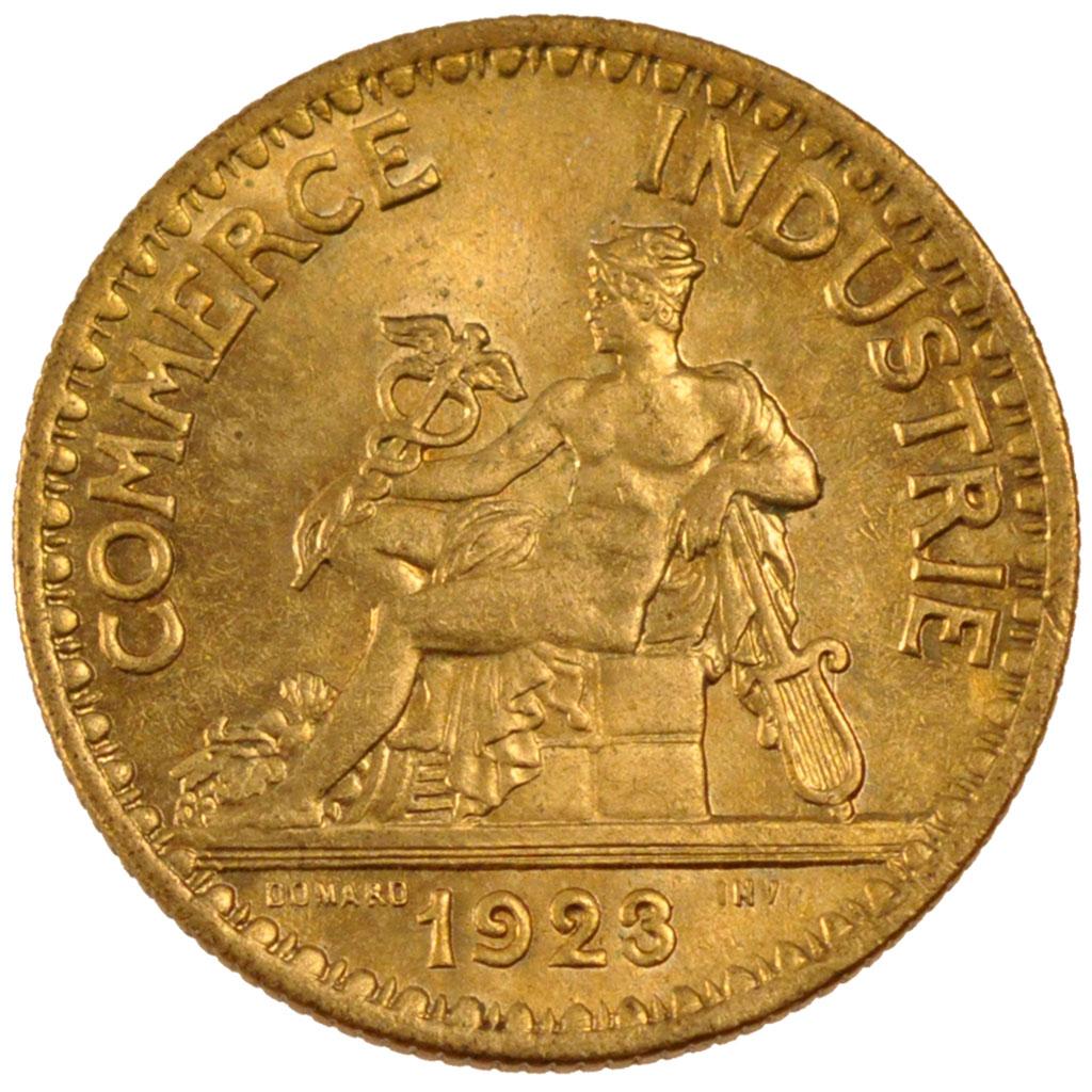 Monnaies modernes iii me r publique 2 francs chambre de for Chambre de commerce de france bon pour 2 francs 1923