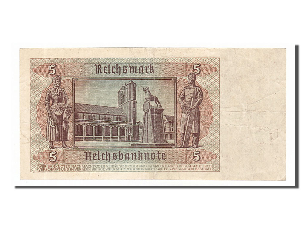 154685 allemagne 5 reichsmark type 1942 ttb 5 reichsmark de 16 50 euros 1942 comptoir. Black Bedroom Furniture Sets. Home Design Ideas