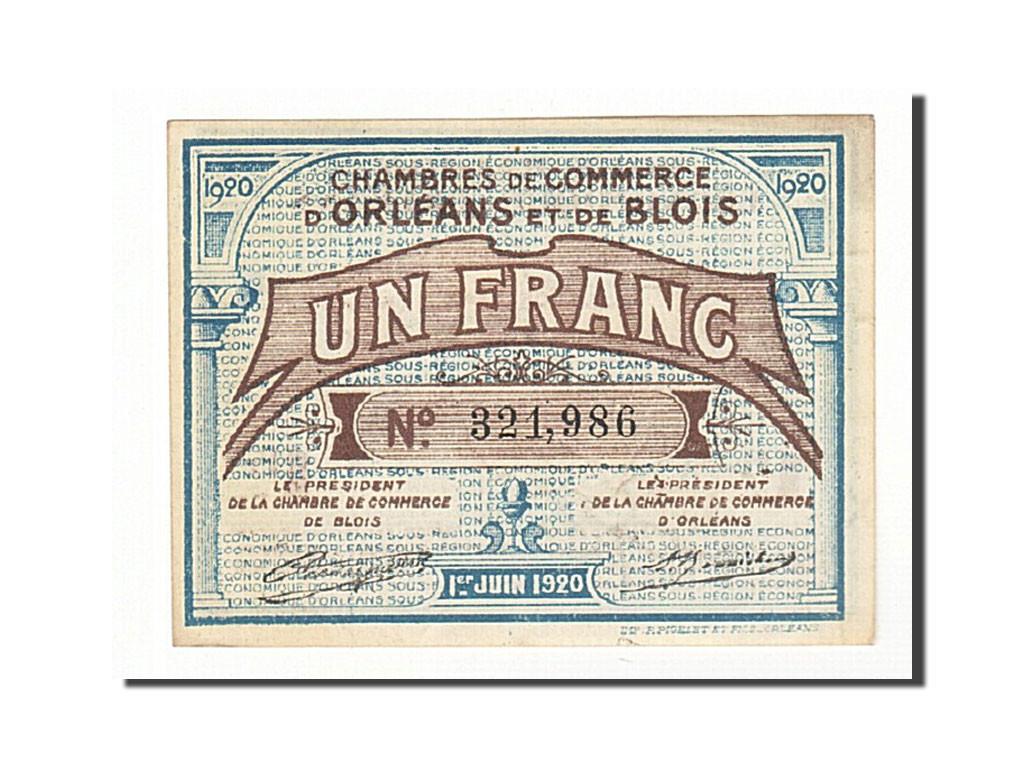 161253 france orl ans et blois 1 franc 1920 sup pirot 96 3 sup 1 franc de 5 15 euros. Black Bedroom Furniture Sets. Home Design Ideas