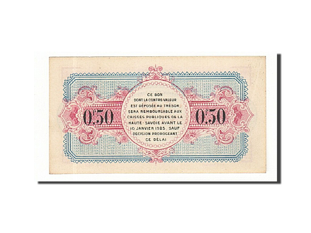 161254 france annecy 50 centimes 1920 neuf pirot 10 for Chambre de commerce annecy