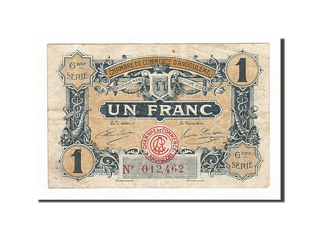 161392 france angoul me 1 franc 1920 ttb pirot 9 47 for Chambre de commerce angouleme