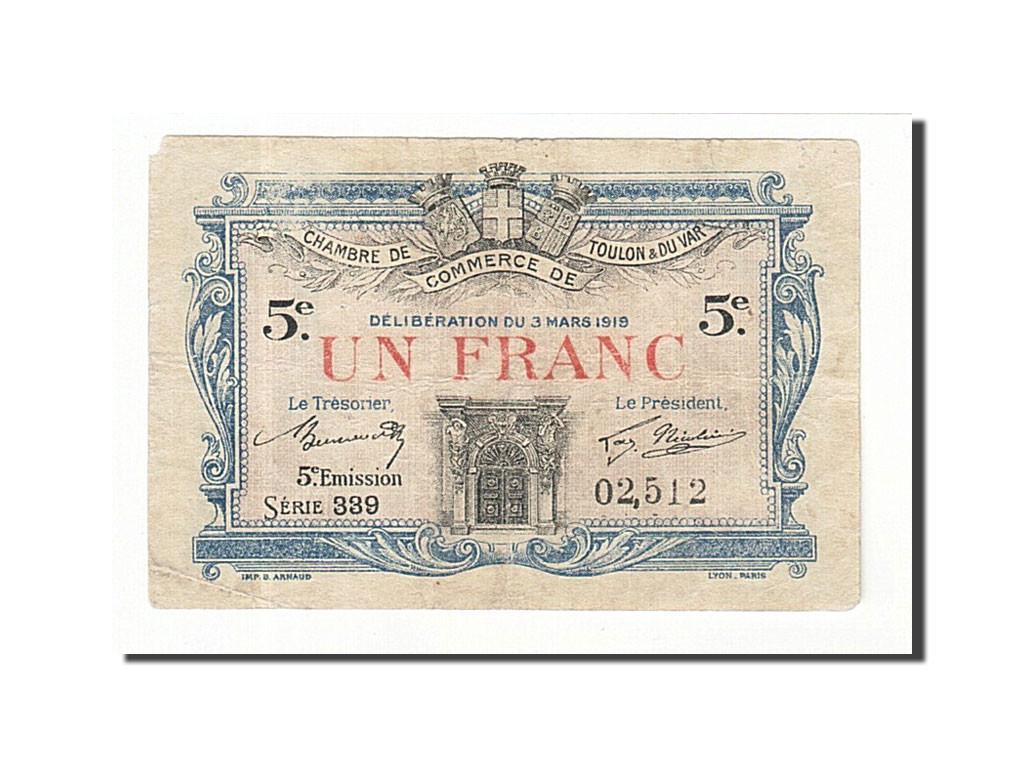161416 france toulon 1 franc 1919 tb pirot 02 512 tb 1 franc de 5 15 euros 1919. Black Bedroom Furniture Sets. Home Design Ideas
