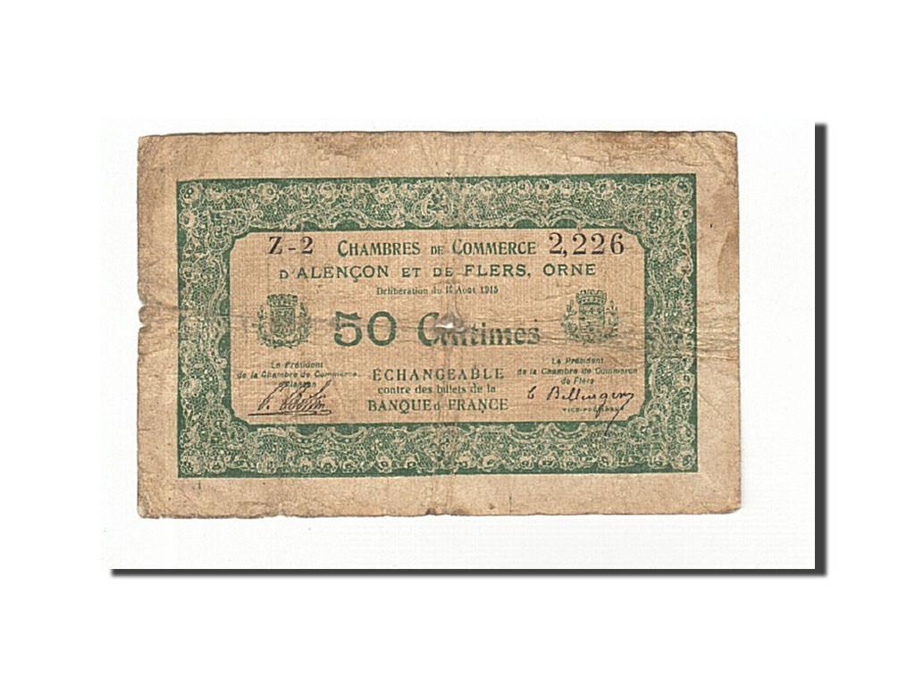 161623 france alen on et flers 50 centimes 1915 b pirot 6 5 b 50 centimes de 5 15 - Chambre de commerce alencon ...