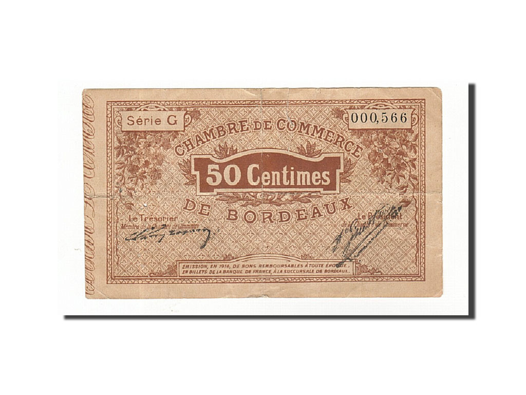 161633 france bordeaux 50 centimes 1914 tb pirot 30 1 tb 50 centimes de 5 15 euros - Chambre du commerce bordeaux ...