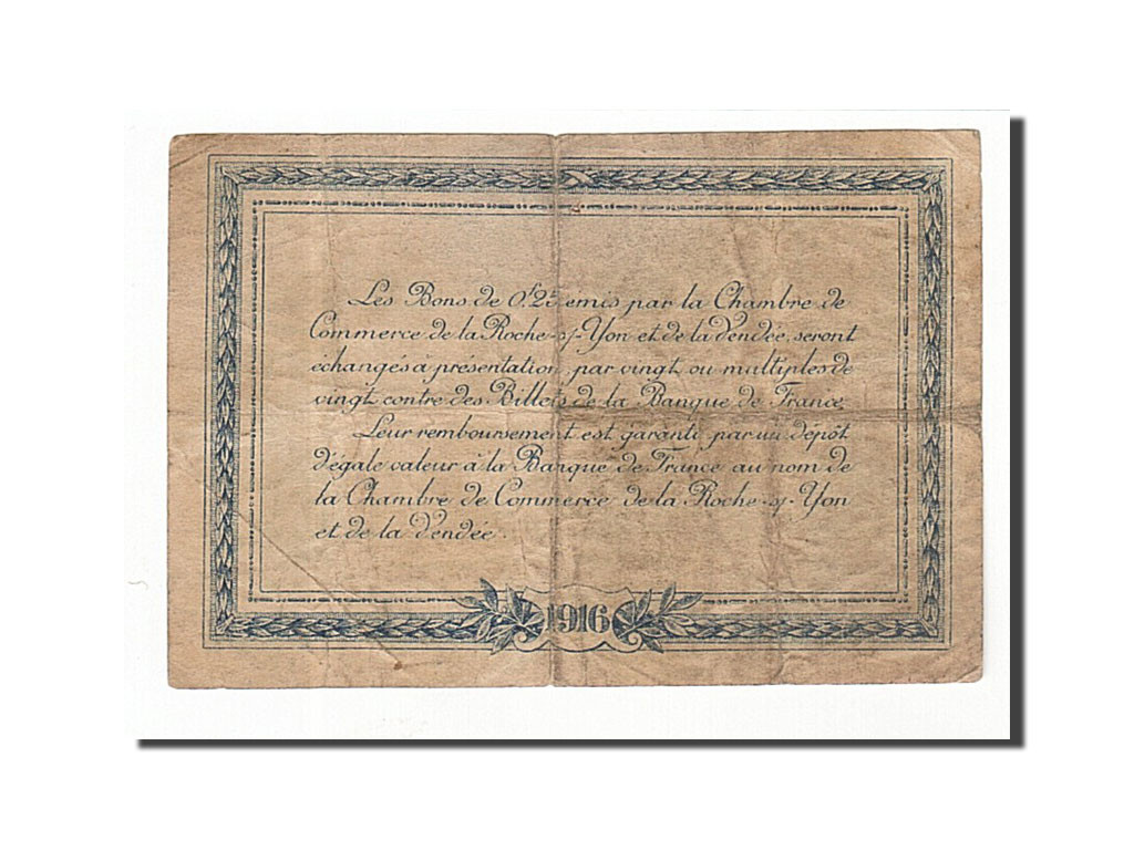 161647 France La Roche Sur Yon 25 Centimes 1916 Tb
