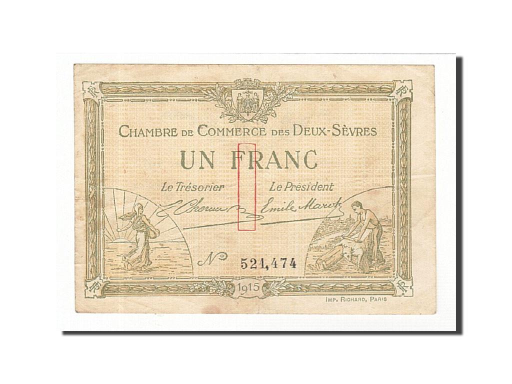 161765 france niort 1 franc 1915 ttb pirot 93 3 ttb 1 franc de 5 15 euros 1915 - Chambre de commerce niort ...
