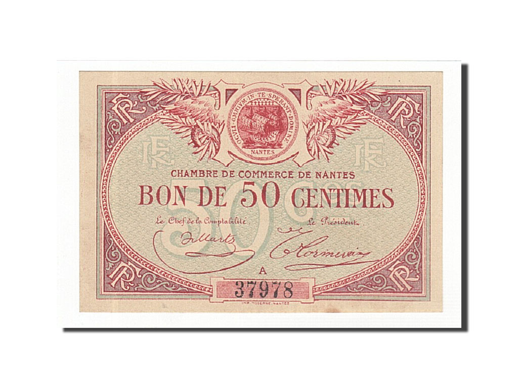 161766 france nantes 50 centimes sup pirot 88 3 for Chambre de commerce nantes