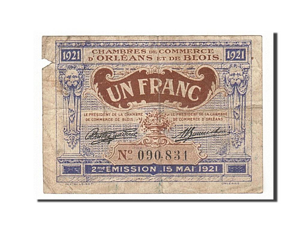 161835 france orl ans et blois 1 franc 1921 b pirot 96 7 b 1 franc de 5 15 euros. Black Bedroom Furniture Sets. Home Design Ideas