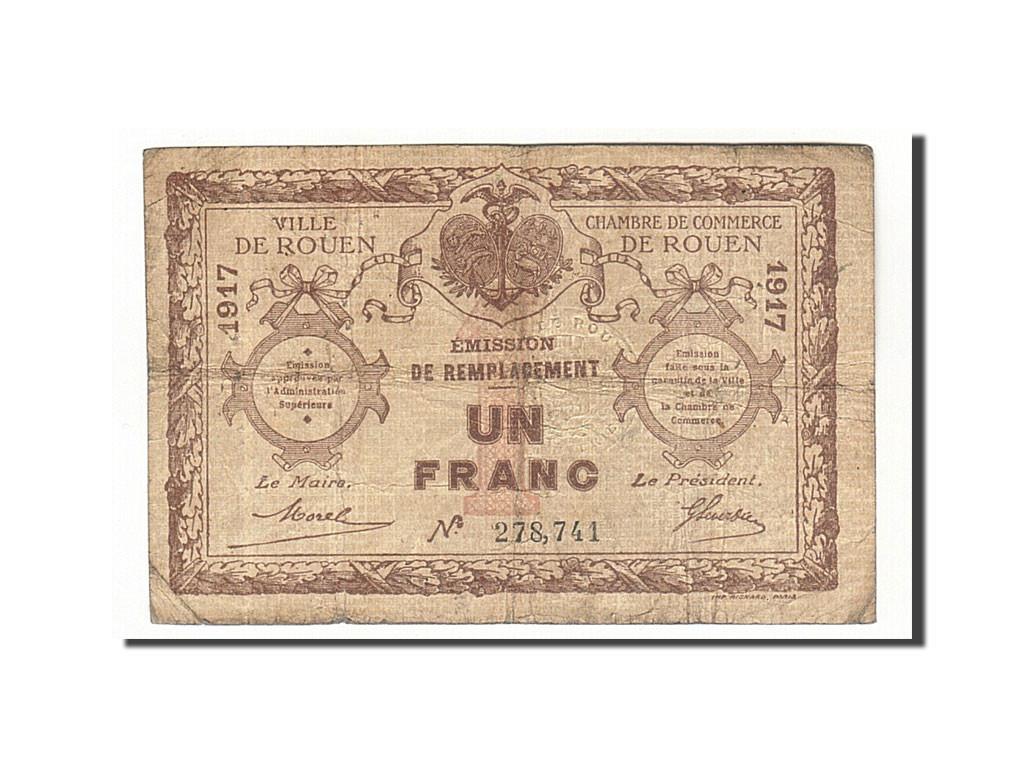 161886 france rouen 1 franc 1917 tb pirot 110 30 tb 1 franc de 5 15 euros 1917. Black Bedroom Furniture Sets. Home Design Ideas