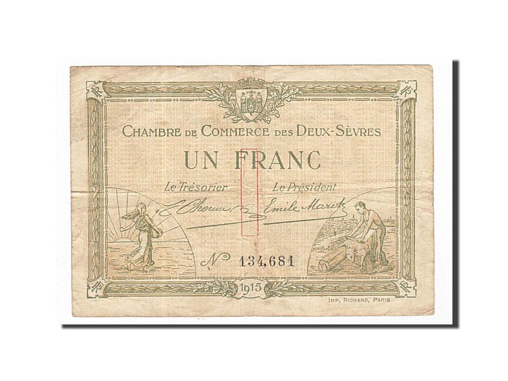 161925 france niort 1 franc 1915 ttb pirot 93 3 ttb 1 franc de 5 15 euros 1915 - Chambre de commerce niort ...