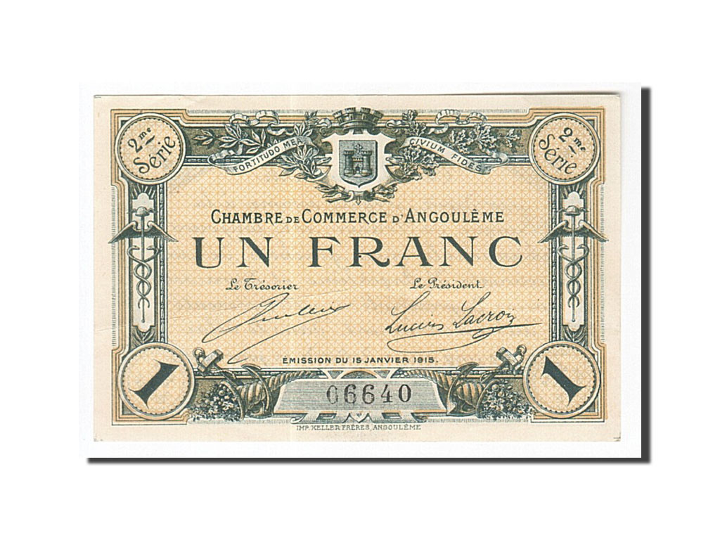 161938 france angoul me 1 franc 1915 ttb pirot 9 11 for Chambre de commerce angouleme