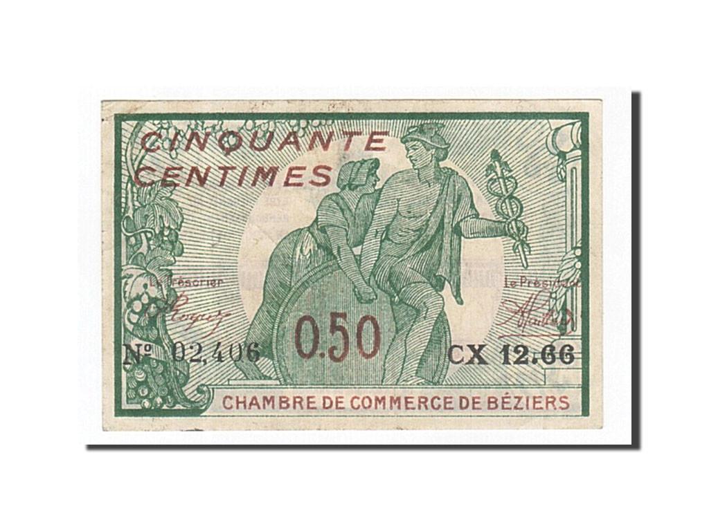 161992 france b ziers 50 centimes 1916 sup pirot 27 20 sup 50 centimes de 5 15 euros. Black Bedroom Furniture Sets. Home Design Ideas