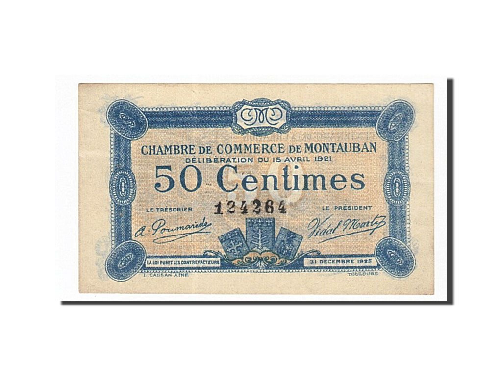 162027 france montauban 50 centimes 1921 sup pirot 83 17 sup 50 centimes de 5 15. Black Bedroom Furniture Sets. Home Design Ideas