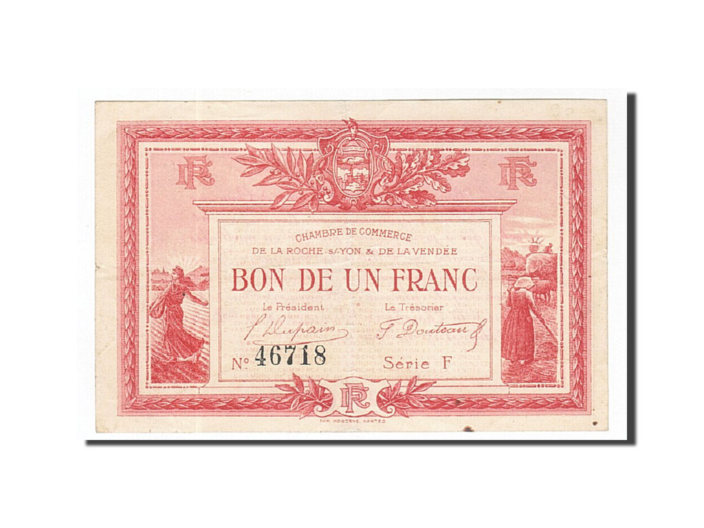 162058 France La Roche Sur Yon 1 Franc 1915 Ttb