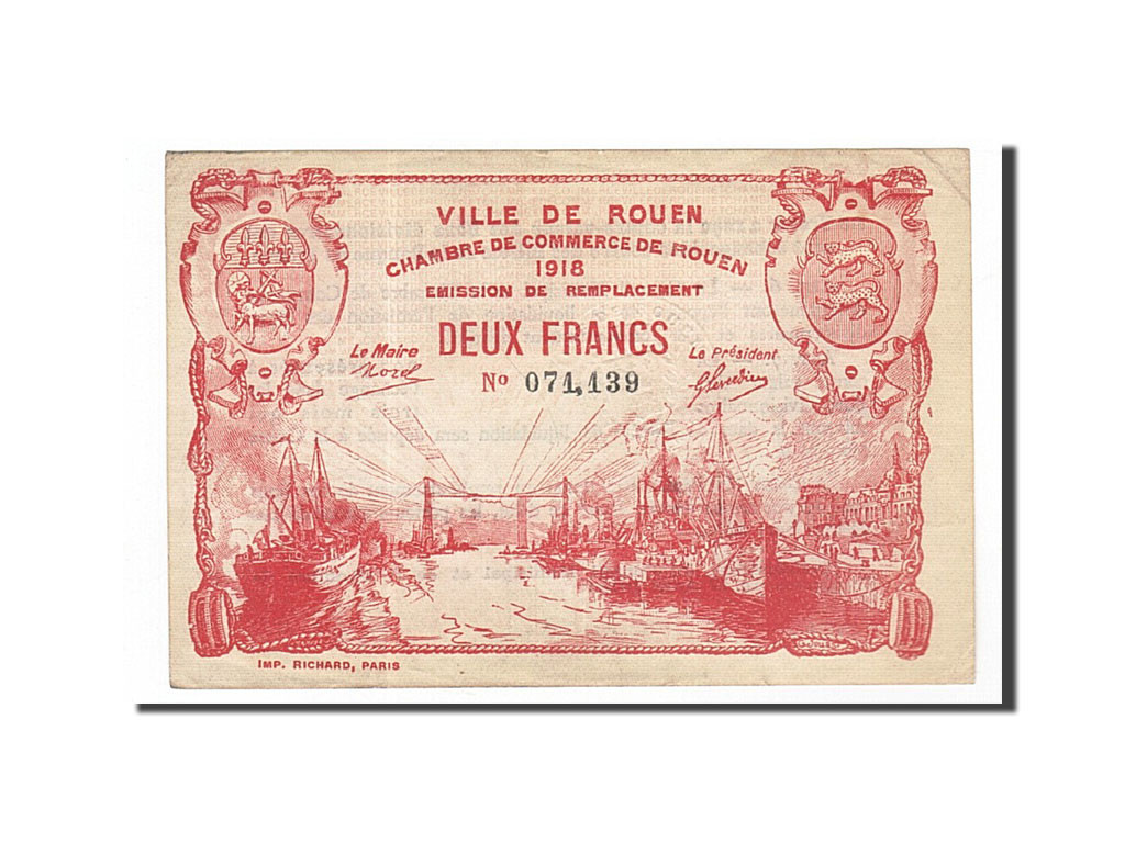 162076 france rouen 2 francs ttb pirot 110 41 ttb 2 francs de 5 15 euros non. Black Bedroom Furniture Sets. Home Design Ideas