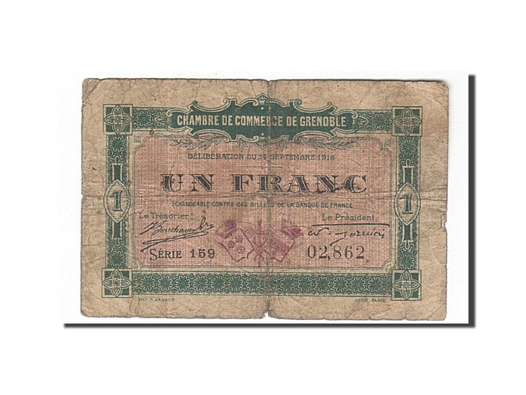 162081 france grenoble 1 franc 1916 b pirot 63 6 b 1 franc de 5 15 euros 1916. Black Bedroom Furniture Sets. Home Design Ideas