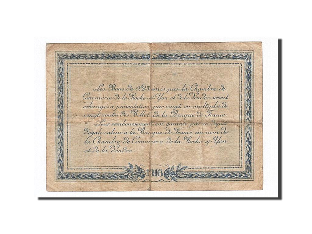 162131 France La Roche Sur Yon 25 Centimes 1916 Ttb