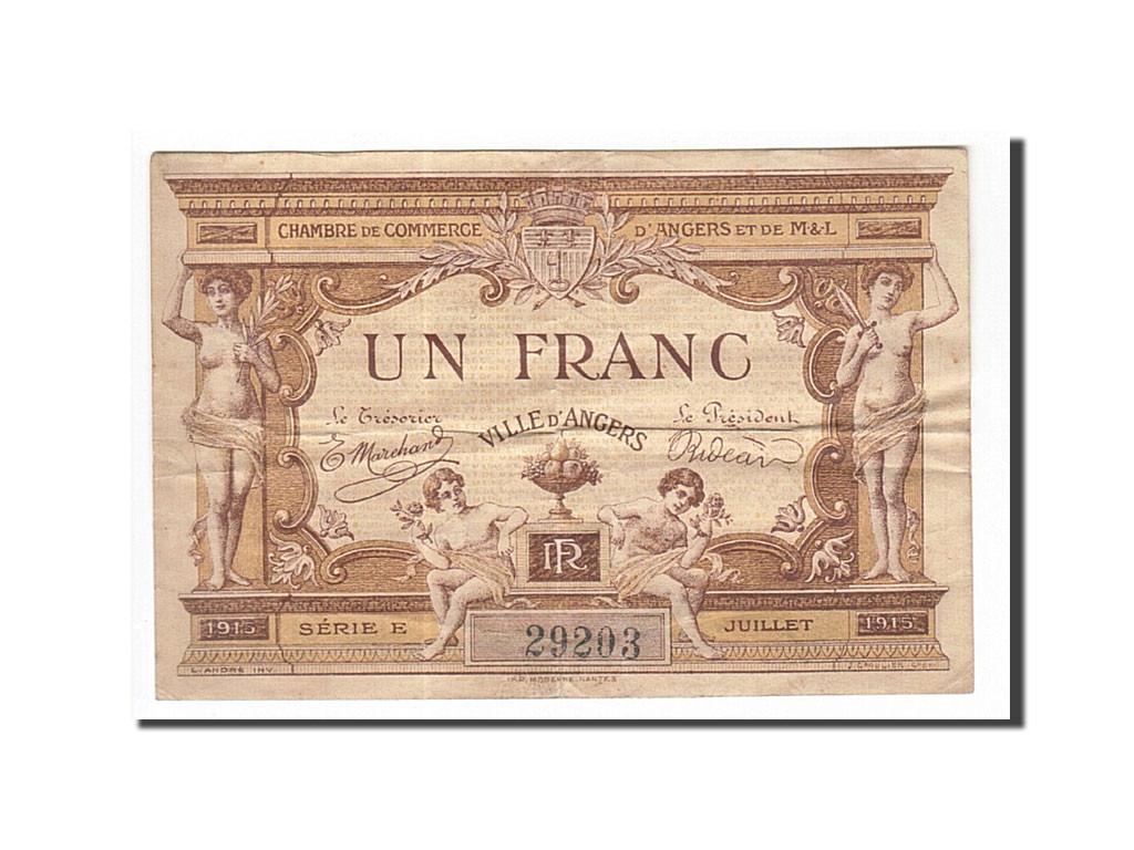 162142 france angers 1 franc 1915 ttb pirot 8 1 ttb 1 franc de 5 15 euros 1915. Black Bedroom Furniture Sets. Home Design Ideas