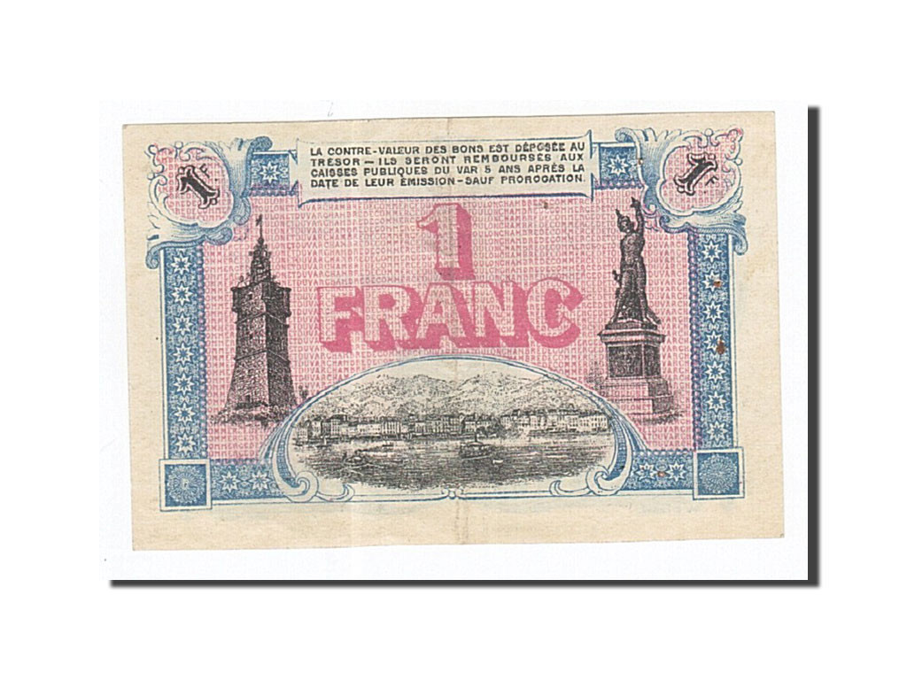 162148 France Toulon 1 Franc 1917 Sup Pirot 121 20