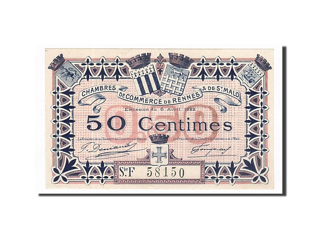 162210 france rennes et saint malo 50 centimes 1922 sup pirot 105 23 sup 50 centimes - Chambre de commerce rennes ...