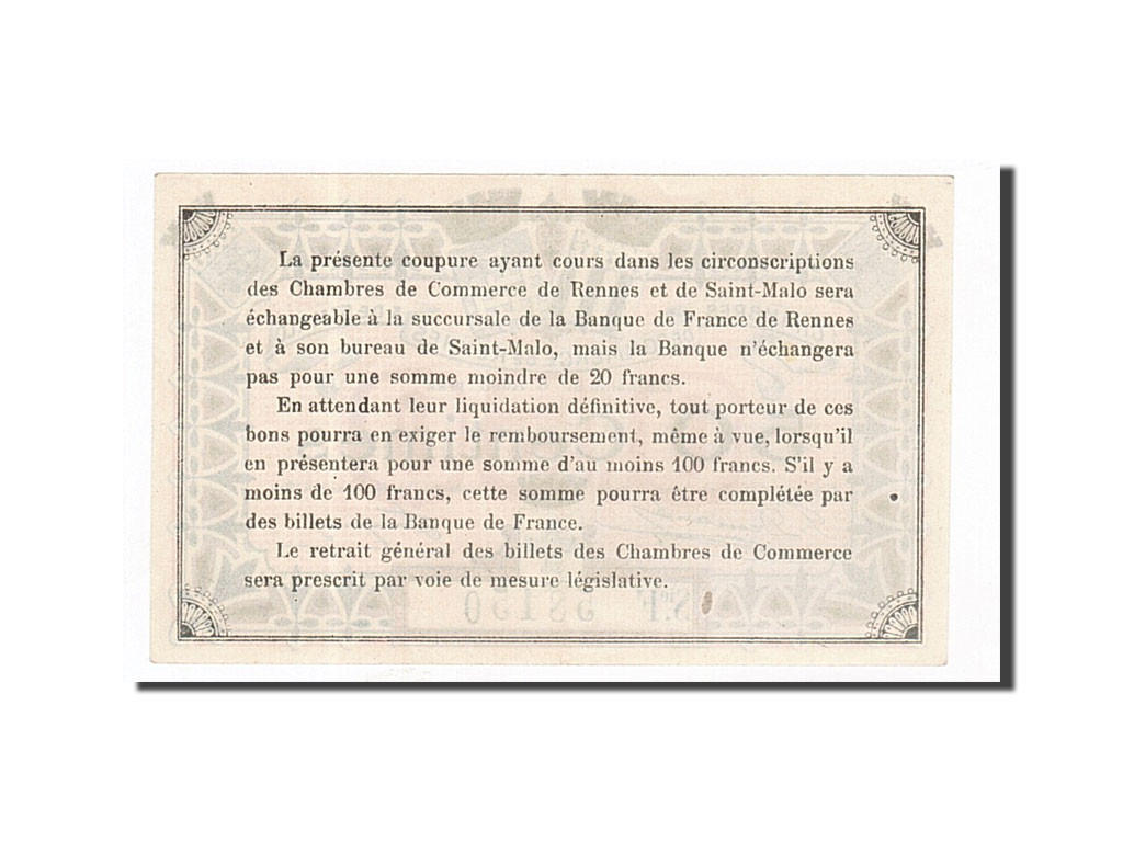 162210 france rennes et saint malo 50 centimes 1922 for Chambre de commerce de rennes 35