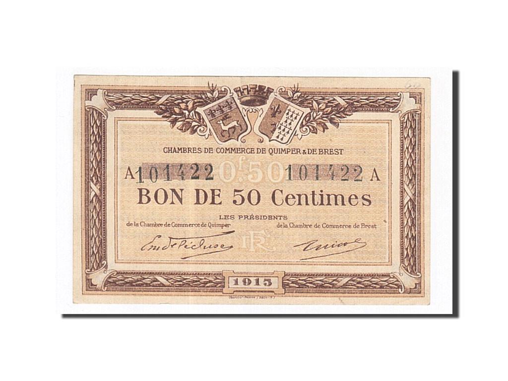 162219 france quimper et brest 50 centimes 1915 sup pirot 104 1 sup 50 centimes de 5 - Chambre de commerce de brest ...