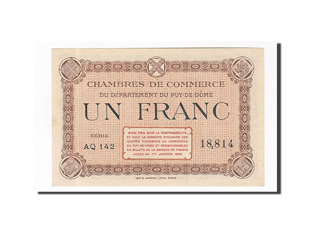 162221 france clermont ferrand 1 franc spl pirot 103 - Chambre de commerce de clermont ferrand ...