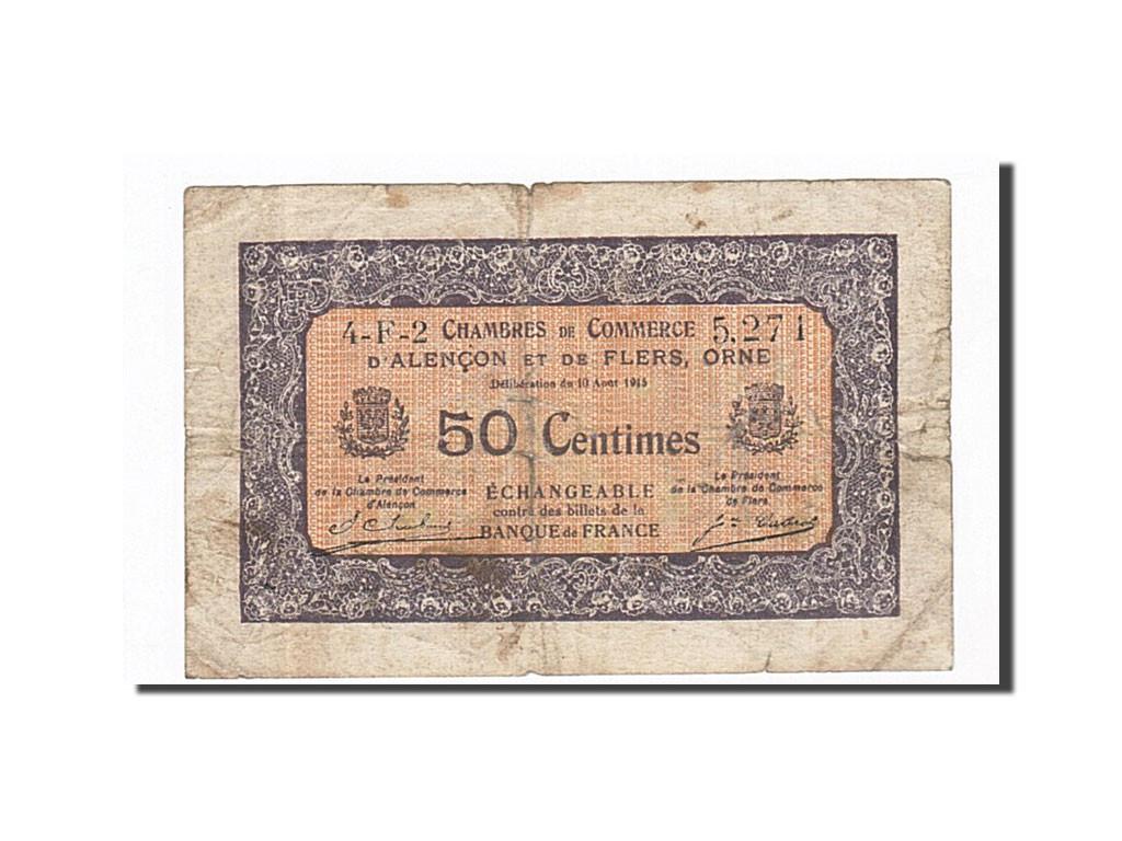 162235 france alen on et flers 50 centimes 1915 b pirot 6 39 b 50 centimes de 5 15 - Chambre de commerce alencon ...