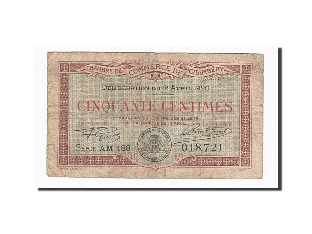 162240 france chamb ry 50 centimes 1920 tb pirot 44 - Chambre de commerce chambery ...
