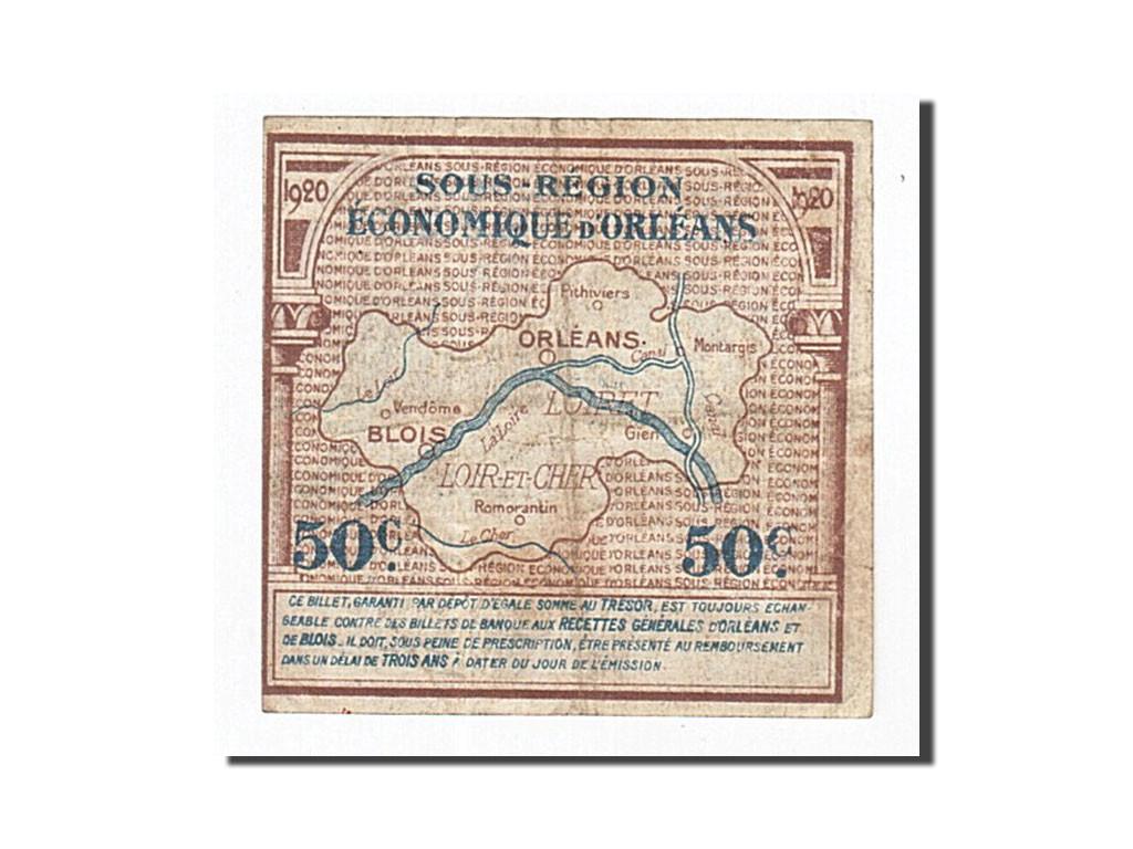 162271 france orl ans et blois 50 centimes 1920 tb for Chambre de commerce orleans