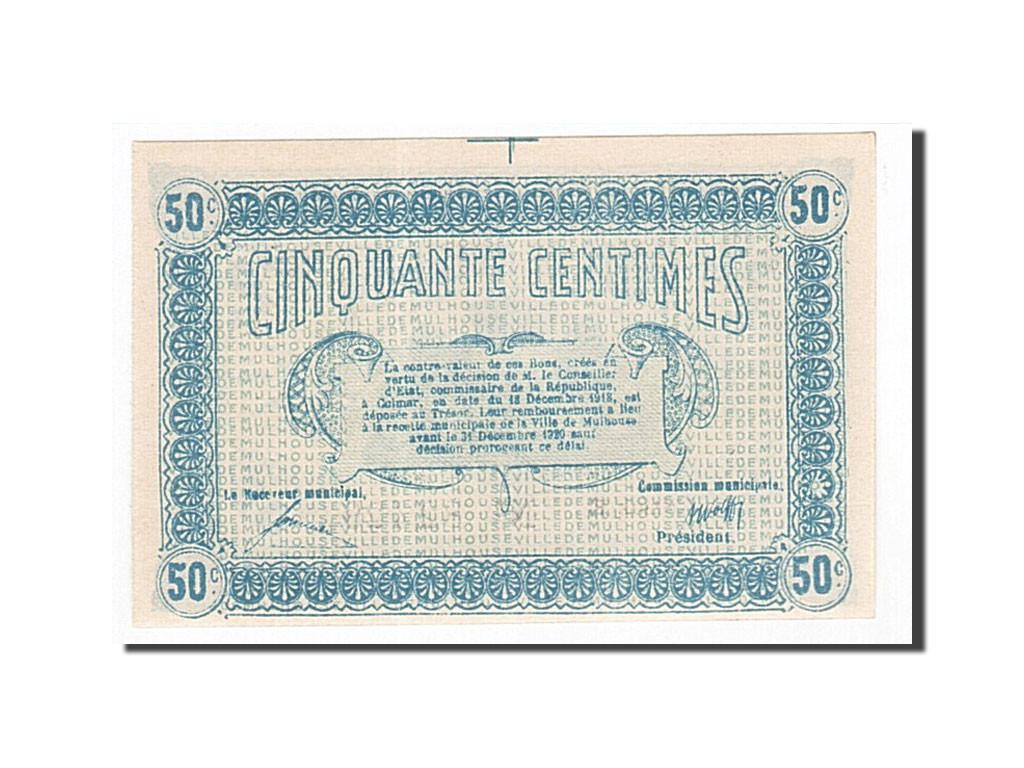 162420 france mulhouse 50 centimes 1918 spl pirot for Chambre de commerce mulhouse