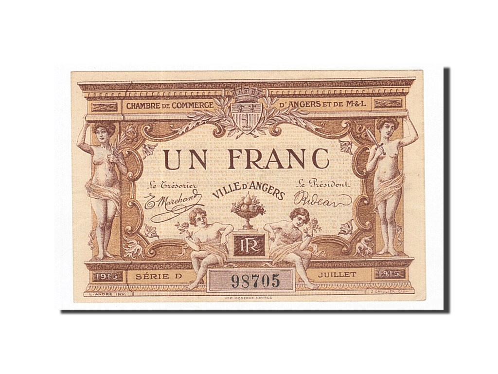 162576 france angers 1 franc 1915 sup pirot 8 1 sup 1 franc de 5 15 euros 1915. Black Bedroom Furniture Sets. Home Design Ideas