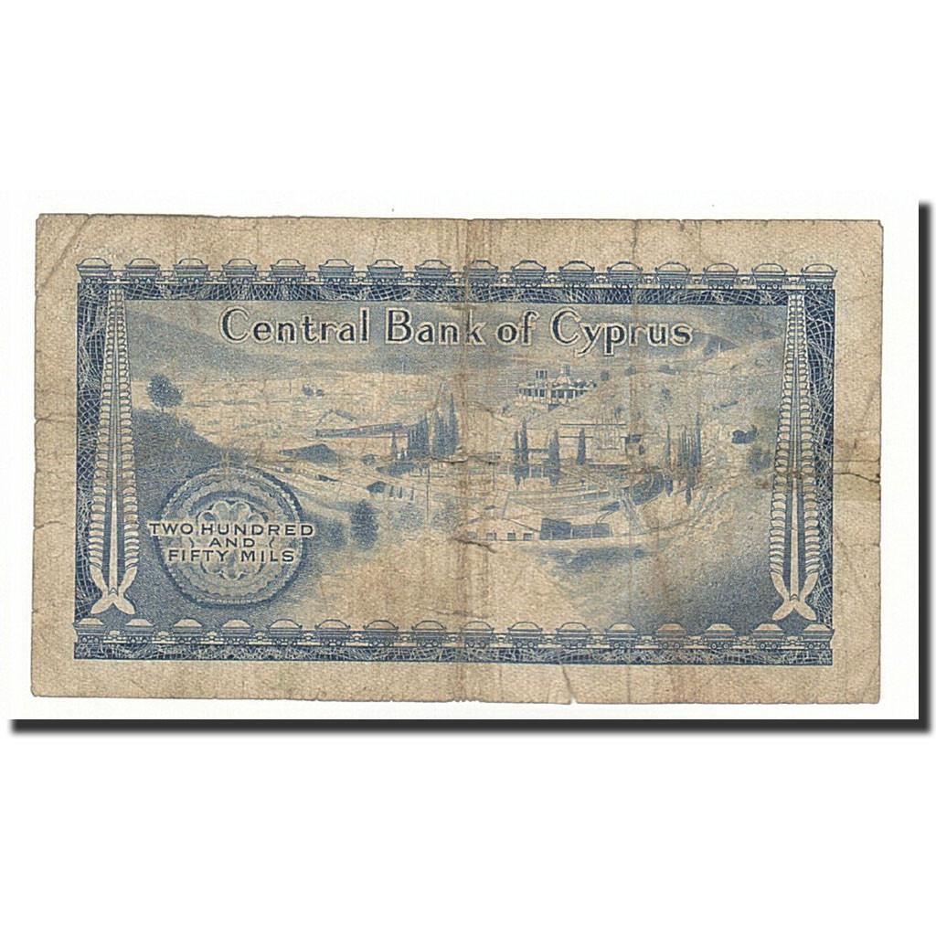 #164676 Chypre, 250 Mils, 1969-12-01, KM:41a, TB : TB, 250