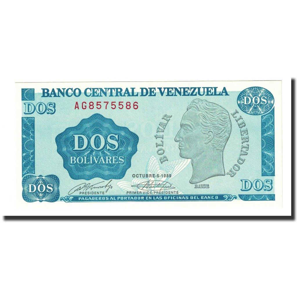 Prefix A VENEZUELA 5 BOLIVARES 1989 P-70b UNC