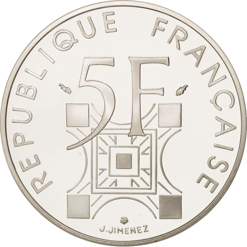 19913 france tour eiffel 5 francs 1989 fdc argent. Black Bedroom Furniture Sets. Home Design Ideas