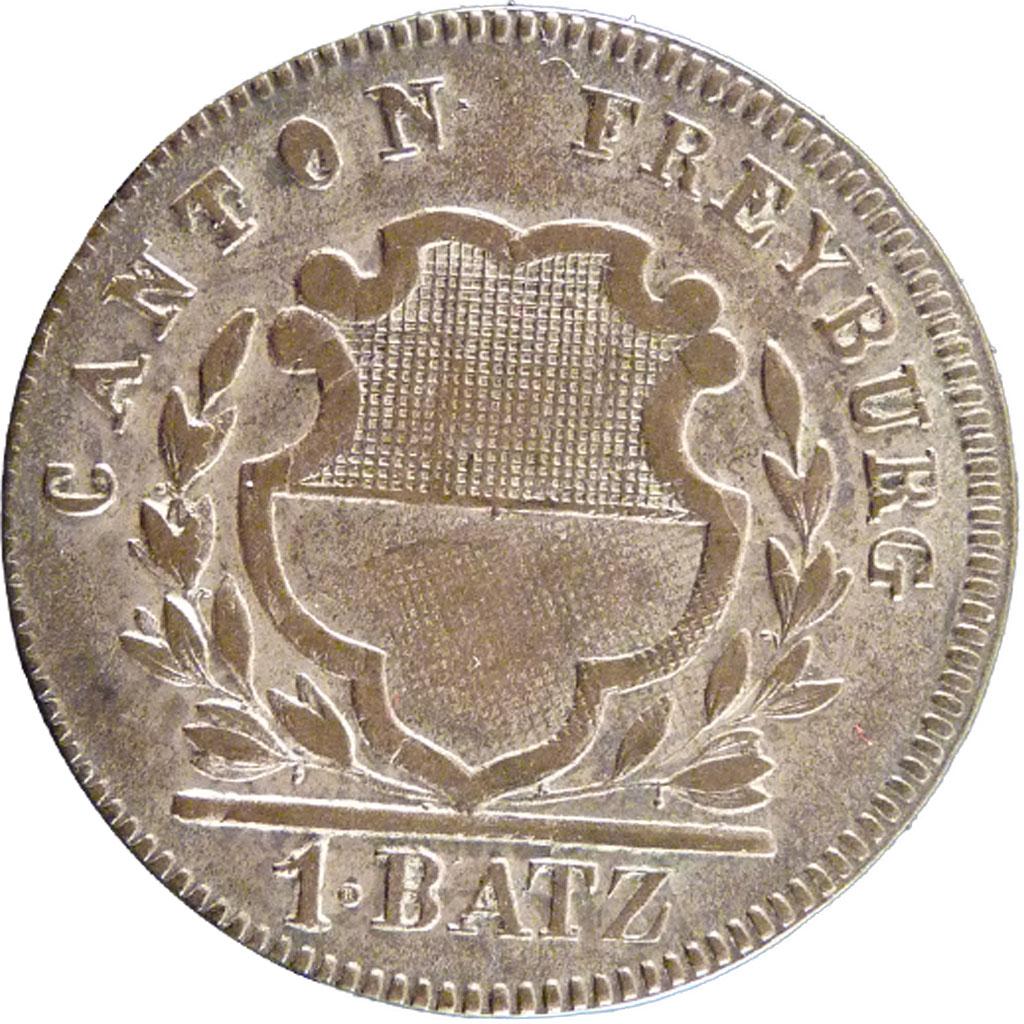 21222 canton de fribourg suisse 1 batzen sup batzen for Chambre de commerce fribourg