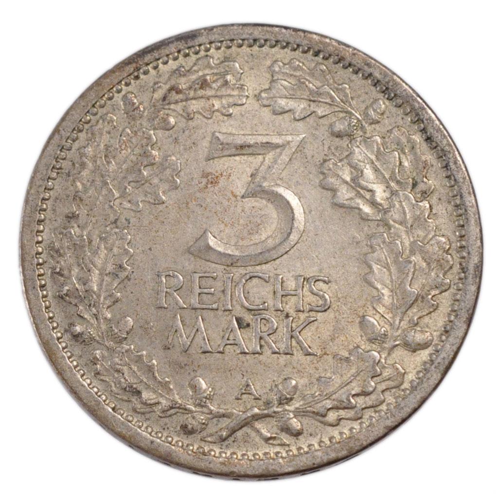 21254 r publique de weimar allemagne 3 reichsmark for Chambre de commerce francaise en allemagne