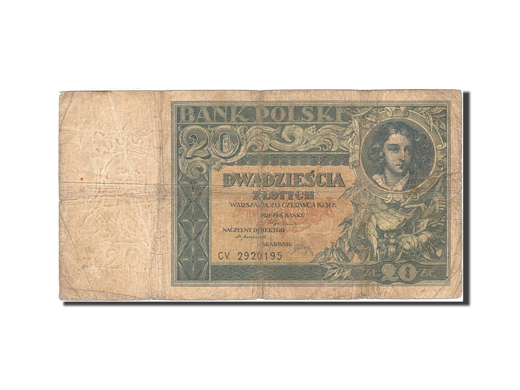 264434 pologne  20 zlotych  1930