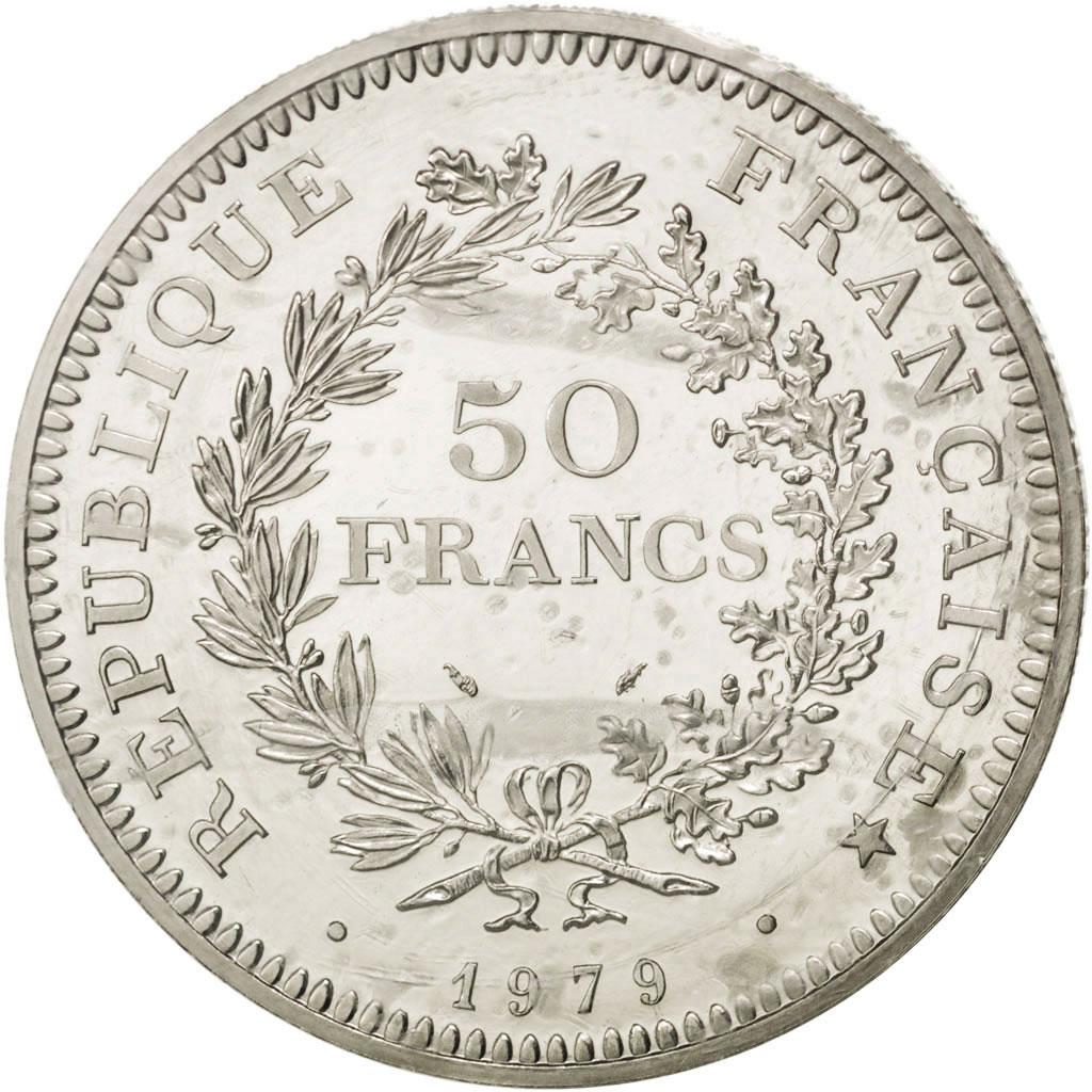 29982 v me r publique 50 francs hercule 1979 pi fort en platine km p652 fdc 50 francs. Black Bedroom Furniture Sets. Home Design Ideas