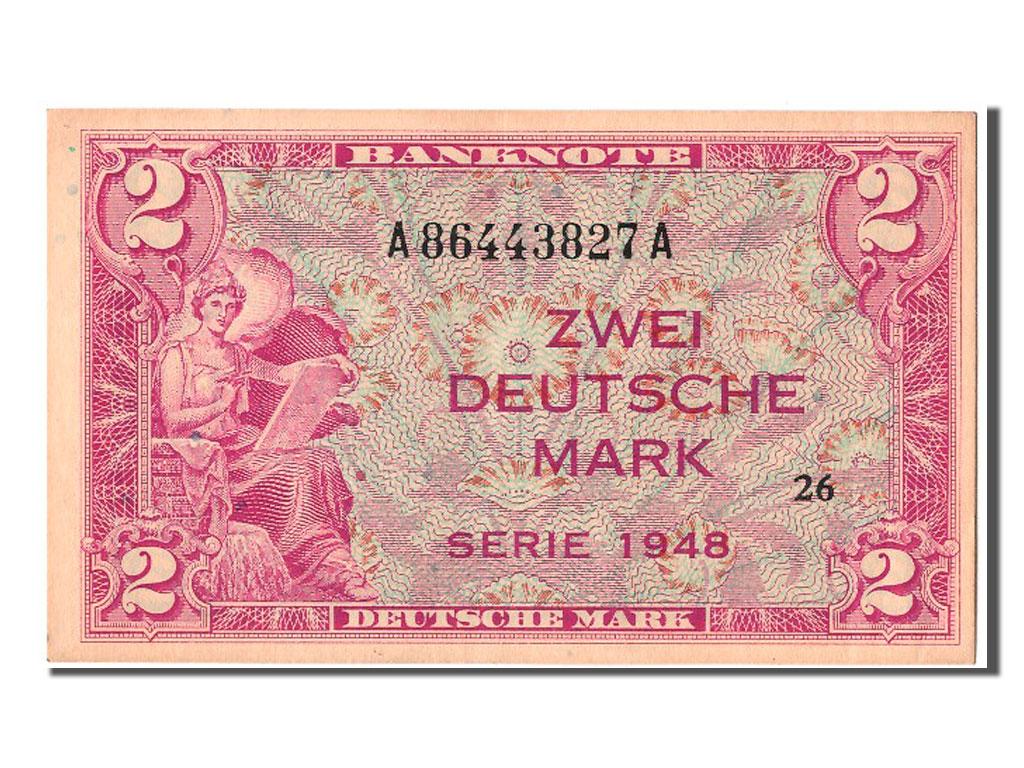 302841 allemagne 2 deutsche marke type 1948 sup 2 deutsche mark de 151 500 euros 1948. Black Bedroom Furniture Sets. Home Design Ideas