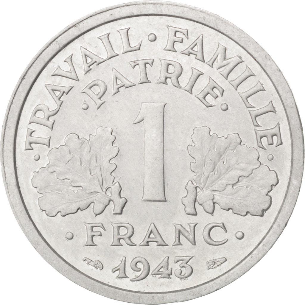 33246 tat fran ais 1 franc bazor 1943 poids fort. Black Bedroom Furniture Sets. Home Design Ideas