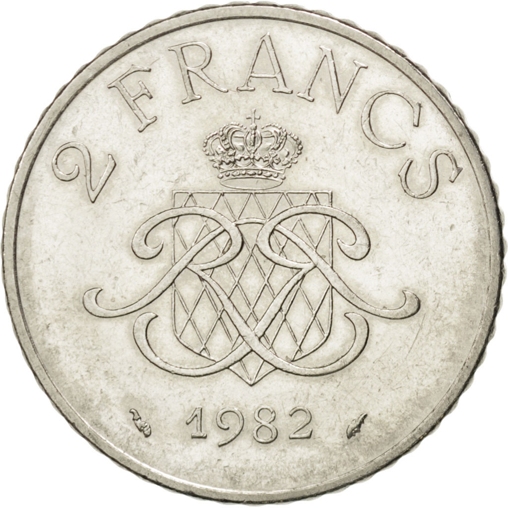 36389 monaco rainier iii 2 francs 1982 gadoury 151 sup 2 francs de 5 15 euros nickel. Black Bedroom Furniture Sets. Home Design Ideas