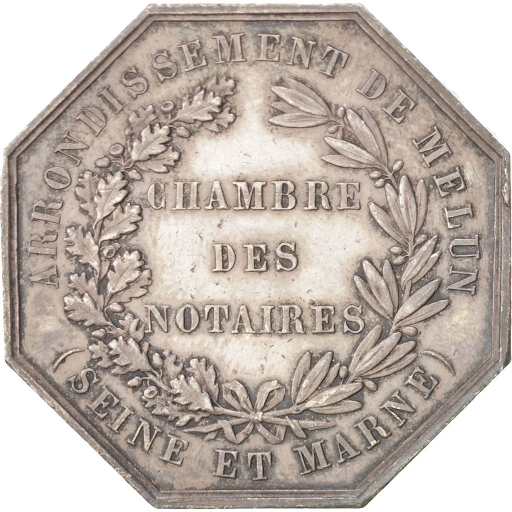 400229 napol on iii chambre des notaires de l 39 arrondissement de melun jeton sup oudin - Chambre des notaires de melun ...