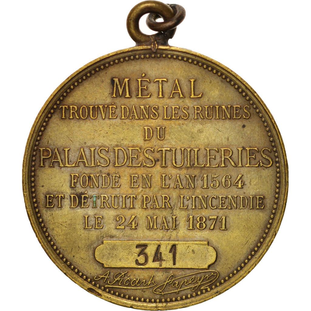 404006 france m tal du palais des tuileries history - Comptoir des tuileries cours de l or ...