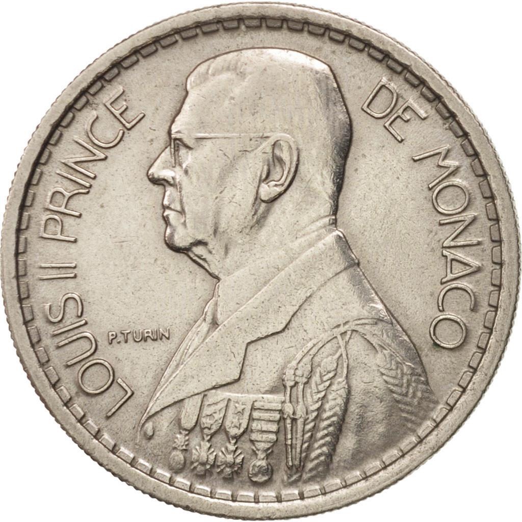 405756 monaco louis ii 10 francs 1946 ttb copper nickel km 123 ttb 10 francs de 5. Black Bedroom Furniture Sets. Home Design Ideas