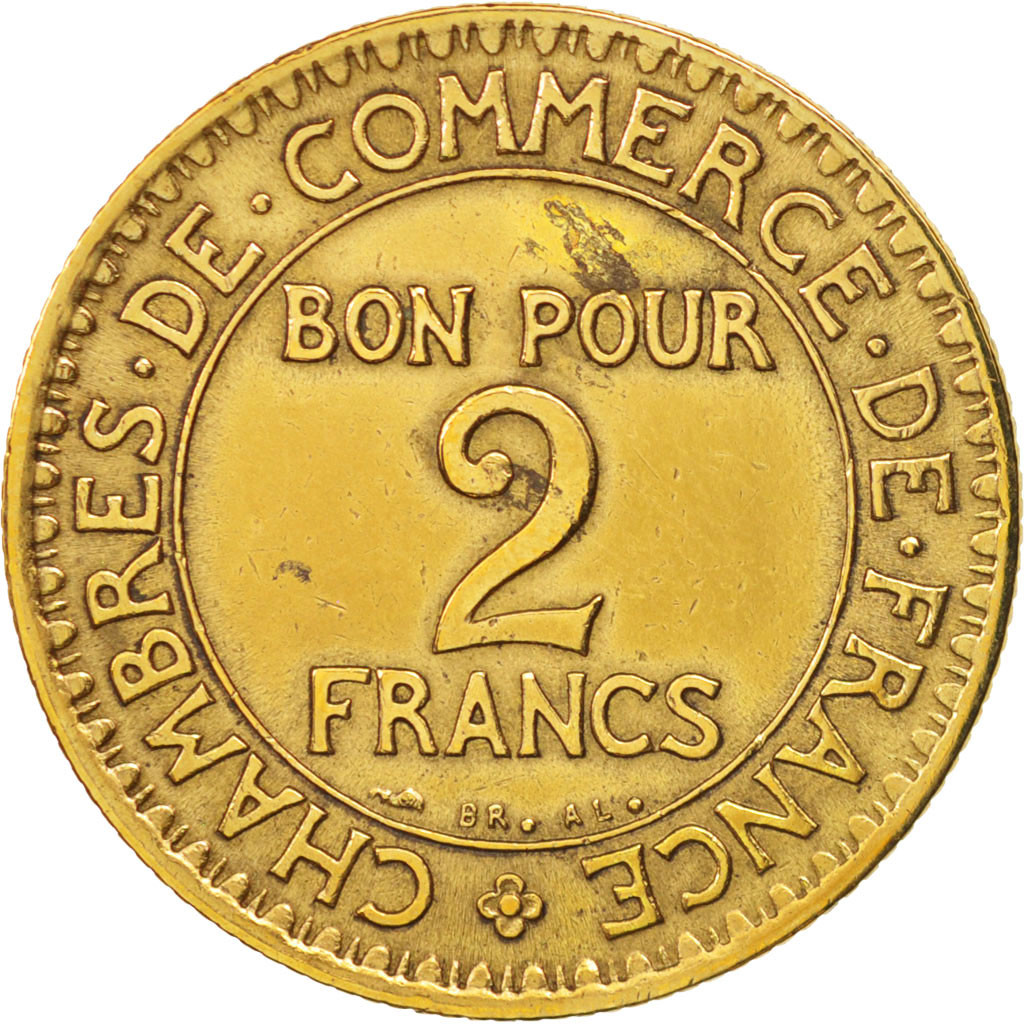 407948 france chambre de commerce 2 francs 1921 paris for Chambre commerce international paris